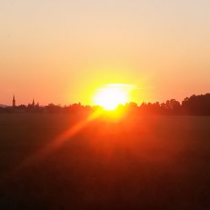 Město Litovel v západu slunce
