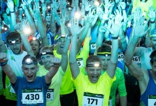 Atmosféra na startu Night Run v Brně