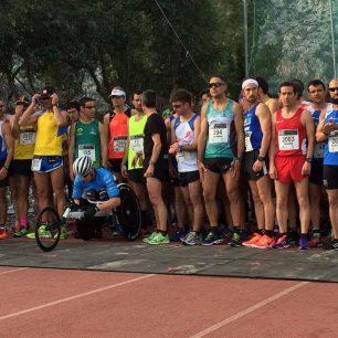 Na startu běžeckého závodu, Mallorca (foto: Dita Spalková)